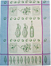 European Kitchen Towel - Blue Olives