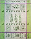 European Kitchen Towel - Green Olives