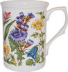 Alpine Floral Bone China Mug - Purple