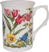 Alpine Floral Bone China Mug - Pink
