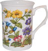 Alpine Floral Bone China Mug - Yellow