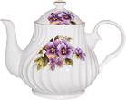 Pansy Teapot, 4-Cup