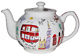 Sadler Teapot, London Travel 6-Cup
