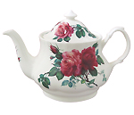 English Rose Teapot, 6 Cup