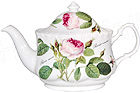 Oval Redoute Rose Teapot, 4 Cup