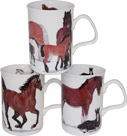 Horses Bone China Tea Cup Set