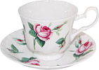 Malmaison Rose Fine Bone China Cup & Saucer Set