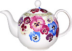 Pansy Teapot, 6-cup