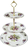 3-Tier Cake Stand, Pansy