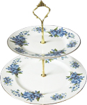 2-Tier Cake Stand, Forget-Me-Not