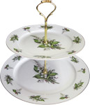 2-Tier Cake Stand, Lily of the Valley