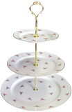 3-Tier Cake Stand, Dot Rose