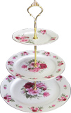 3-Tier Cake Stand, Summertime Rose