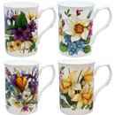Spring Garden Mugs, Set of 4