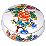 Bone China Trinket Box, 2-1/2 D, Oriental Garden