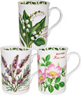 Favourite Flowers - China Mug Set of 3