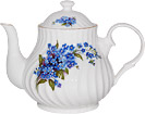 Forget-Me-Not Teapot, 4-Cup