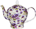 Pansy, Chintz Teapot, 6-Cup