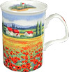 Red Poppy Field Mug