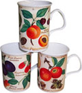 Antique Fruits - Set of 3 Mugs