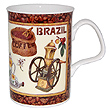 Fancy Coffee Bone China Mug - Brazil