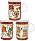 Fancy Coffee Mugs - Set of 3