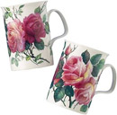 English Rose Mugs, Set of 2
