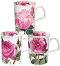 Les Roses Fine Bone China Mug Set