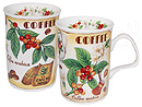 Coffee Time, Set of 2 China Mugs