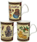 Fine Coffee Mugs - Set of 3