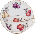 Scatter Fruit Fine Bone China Cup & Saucer Set