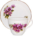 David Michael China, Tea Cup and Saucer, Pansy