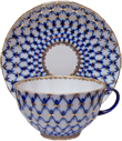 Cobalt Net Tea Cup and Saucer Set