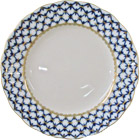 Cobalt Net Scalloped Plate - 7D