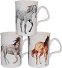 My Horse Fine Bone China Mugs - Set of 3