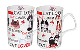 Love My Cat Bone China Mugs - Set of 2