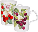 Cherries Bone China Mugs - Set of 2