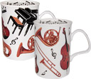 Music Concert Bone China Mugs - Set of 2