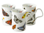 Butterfly Garden Bone China Mugs - Set of 3