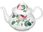 Redoute Rose Large Teapot, 8-Cup
