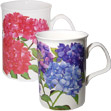 Hydrangea Bone China Mug - Set of 2