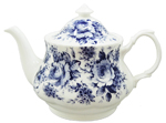 English Chintz in Blue Teapot, 6 Cup