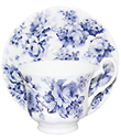 English Chinz in Blue, Cup and Saucer Set