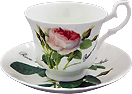 Redoute Rose Cup and Saucer Set