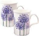 Alliums Set of 2 Fine Bone China Mugs