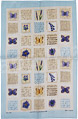 Cornflower & Butterfly, Linen Tea Towel