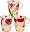 Tulips Ceramic Mugs - Set of 3