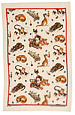 Linen Tea Towel - Butterfly Cat