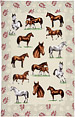 Linen Tea Towel - Horses