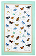 Butterflies - Linen Tea Towel